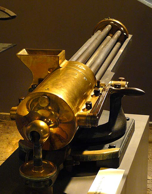 the invention of the gatling gun Crude versions of the machine gun, including the hand-crank-operated gatling gun, first came into use during the american civil war invented by richard j gatling in.