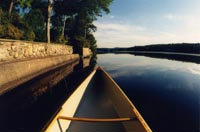 Canoeing, kayaking, and images of Pines Lake